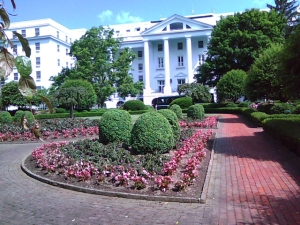 SIDE entrance to the Greenbrier Resort...Yeah, it's a mind-blower.