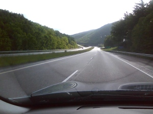 Absolutely beautiful Virginia mountains...from the dashboard.